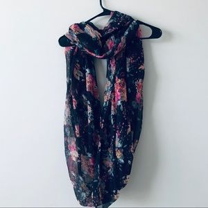 Charming Charlie Floral infinity scarf